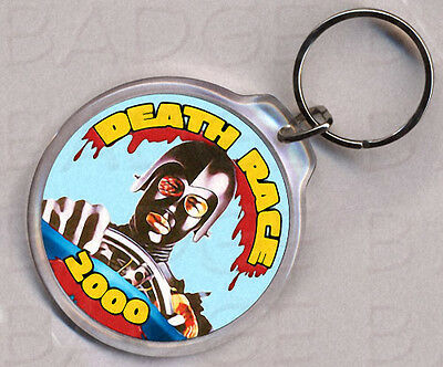 DEATHRACE 2000 round keyring - CLASSIC!