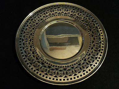 "Beautiful Vintage Wallace Sterling Silver Pierced 9.5""  Plate"
