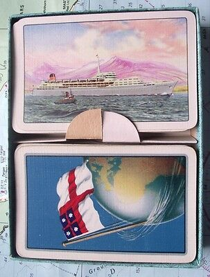 Twin Box 1970 Saville Shaw Shipping Line Playing Cards