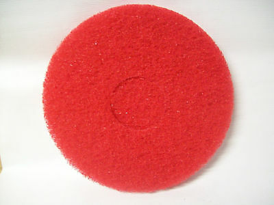"11"" floor maintenance spray buffing pads red case of 5"