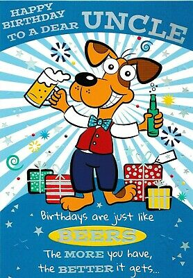 Funny Humorous Uncle Happy Birthday Card