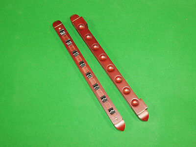 2 Piece Mahogany Pool/snooker Cue Rack Holds 8 Cues