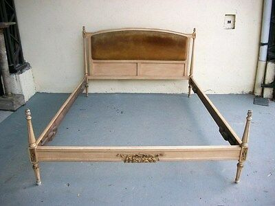 Antique French Louis XVI patinated full bed # 06547