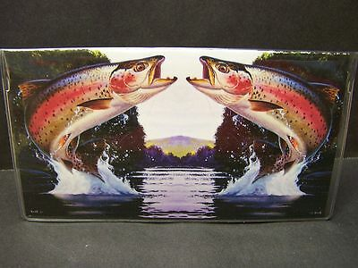 Rainbow Trout Fishing  Checkbook Cover