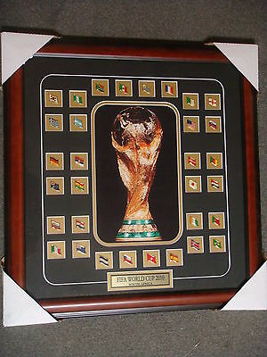 2010 Fifa World Cup Framed Pin Set 23x22