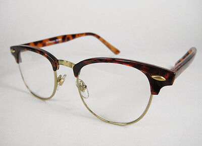 50s Tortoise Shell Horn-Rimmed Retro GLASSES costume nerd rockabilly hipster