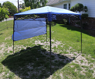 Bravo Sports Quik Shade Ultra Compact 6' X 6' Blue Backpack Canopy 157433