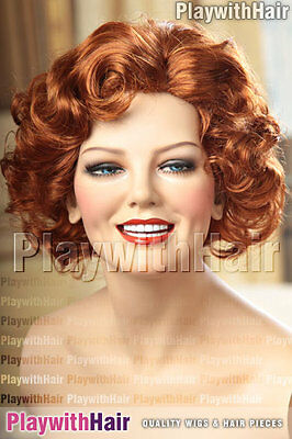 Vintage 30's Pinup Burlesque Wig - COLOUR CHOICES!