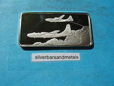 B-50 Bomber 1St Nonstop Flight Around The World Silver Bar Rare Historical Item