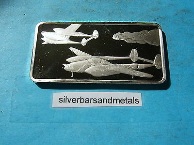 P-38 Lightning Airplane Wwii Silver Bar Rare Cool Historical Item