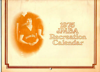 1975 JMBA Recreation Calendar Racine, WI Johnson's Wax