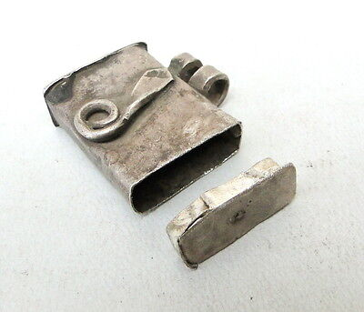 Antique Ethnic Tribal Old Silver Naga Pendant Amulet In