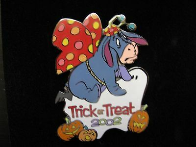 Disney Pin Trick or Treat 2002 Eeyore Butterfly Disney Auction Le 100