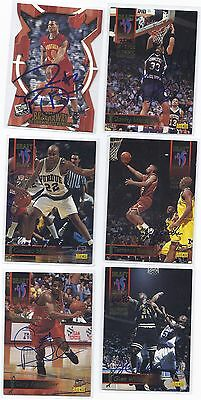 Terrance Rencher Signed Basketball Card texas 1995
