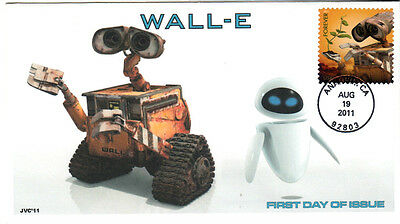 Jvc Cachets -Wall-E First Day Cover -  Pixar Fdc  #1