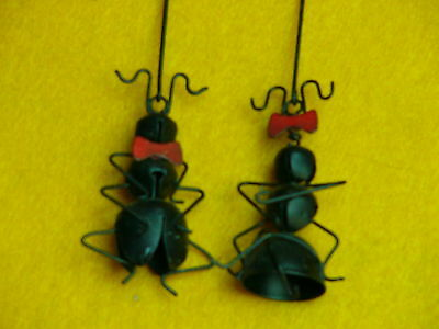 Collect-A-Bells Ants-Boy & Girl-Red Bow & Bowtie-Jingle