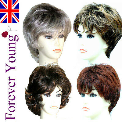 Ladies Short Wig Blonde Black Brown Fashion Wigs! Forever Young Wigs UK