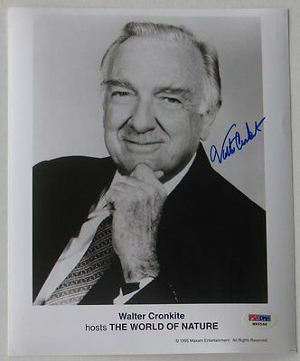 Walter Cronkite Signed World of Nature Authentic 8x10 Photo (PSA/DNA) #M99598