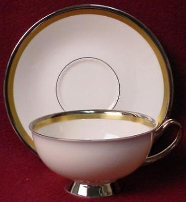 SYRACUSE china GRACE pttrn CUP & SAUCER Set