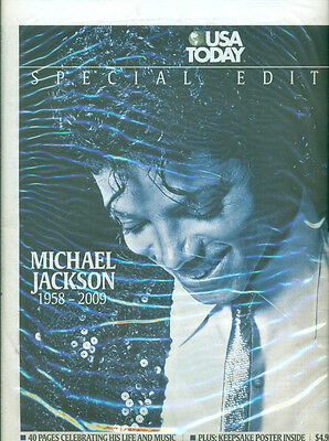 Michael Jackson 40-Page Special Edition USA TODAY, July 2009, NEW, Sealed!