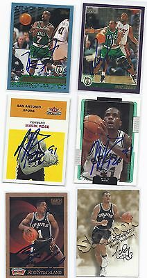 Kenny Anderson Signed Basketball Card Boston Celtics 2001 Topps