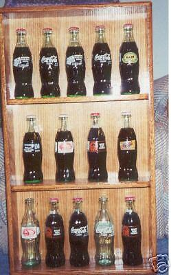 oak coca cola coke 8 oz bottle display case plexiglass