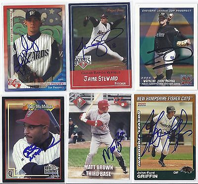 Vince Perkins Signed Autographed Baseball Card New Hampshire 2005