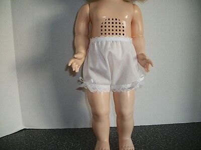 "Basic Cotton Panites For The 17"" Saucy Walker Doll(White)"