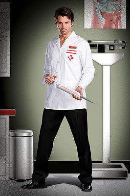 Sexy Halloween Adult Men's Dr. Hugh Prick Doctor Medic Costume