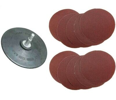 125mm RUBBER BACKING PAD + 10 SANDING DISCS for drill