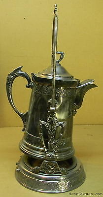 Antique late 1800 Victorian BARBOUR Quadruple Silverplate Large 3pc Water-Tipper