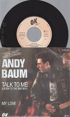 """7"""" Andy Baum --Talk To Me"""