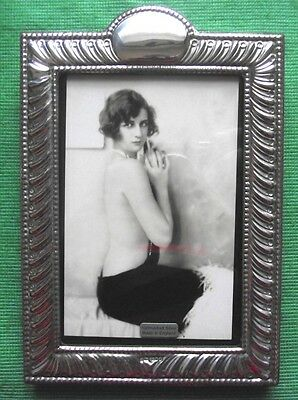 LARGE Art Nouveau London Hallmarked Solid Silver Photo Frame : Xmas Valentines