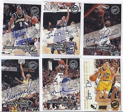 Vonteego Cummings Signed / Autographed Basketball Pittsburgh 1999 Press Pass