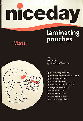 36 A4 matt laminating pouches 4 high illumination areas or write on with pencil