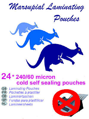 Instant ID Laminating pouches cold self sealing credit card size 24 easy to use