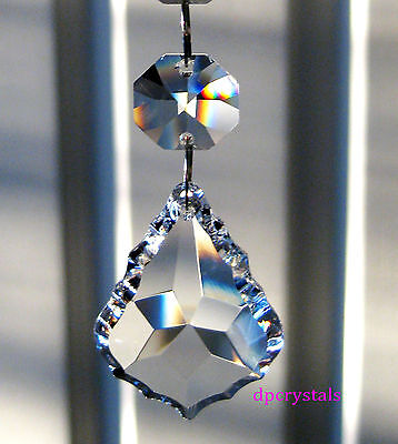 Suncatcher Hanging Crystal Feng Shui Rainbow Prism 38mm with a 14mm Octagon