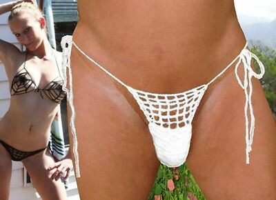 Mens Handmade Crochet Micro Thong In Any Color And Size -Swimming tanning lounge