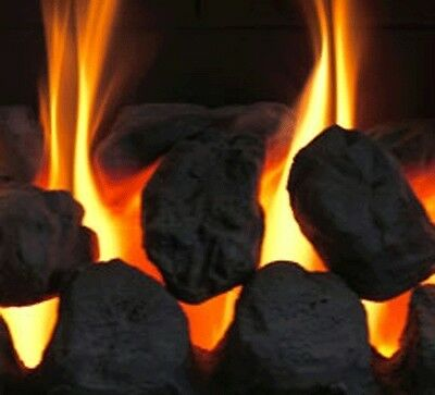 20 Gas Fire Replacement Coals Ceramic Large Oval Coal Cast 65-70mm Made in Wales