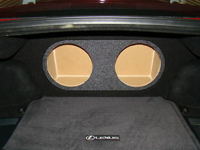 """2006-2012 Lexus IS250 & IS350 2-10"""" Subwoofer Sub Box W/Ressed Face  (Ver.3)"""
