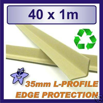 Cardboard Edge Protector 35mm x 35mm L Profile  40 x 1m Length