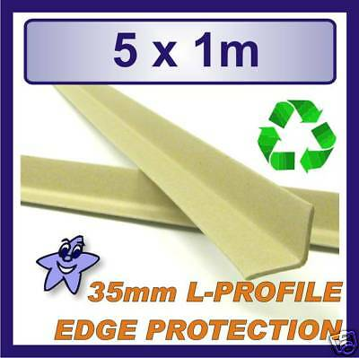 Cardboard Edge Protector 35mm x 35mm L Profile  5 x 1m Length