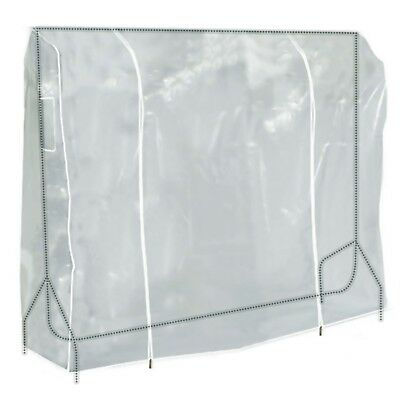 Clear Zipped Clothes Rail Cover Hanging Garment Storage Display 6ft Hangerworld
