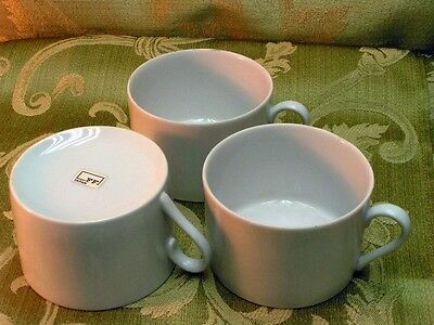 White Octagonal by Fitz & Floyd LOT 3 FLAT CUPS