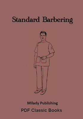 Milady's Standard Barbering Hairdressing Hairdresser Training Course Textbook CD