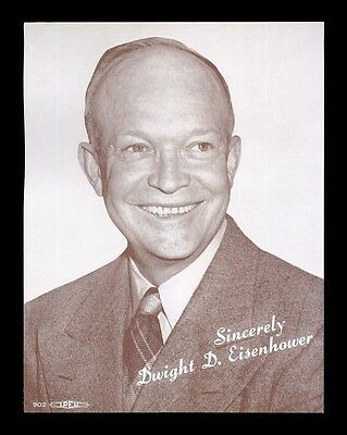 Dwight Ike Eisenhower Vintage Campaign Sepia Photo Picture
