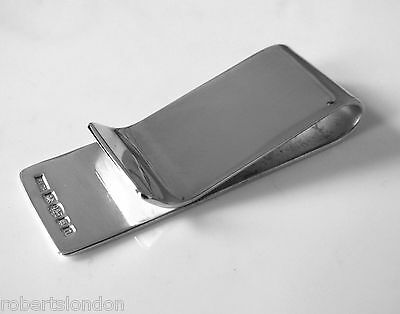 New Roberts & Co Hallmarked Sterling Silver Money Clip Made In London England