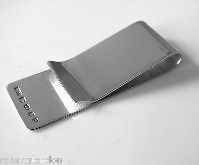 Roberts & Co Hallmarked New Sterling Silver Money Clip Made In London England