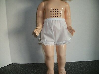 """Basic Cotton Panites For The 22-23"""" Saucy Walker Doll(White)"""