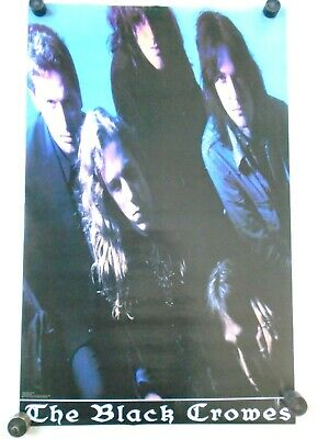 """Black Crowes #NMP135 """"Group vertical."""" poster 1992 Orig. Excellent New cond"""